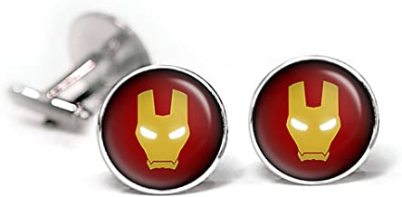 Ironman Cufflinks, Iron Man Tie Clip, Avengers Jewelry, Age of Ultron Tack, Superhero Wedding Party Jewelry Gifts, Groomsmen