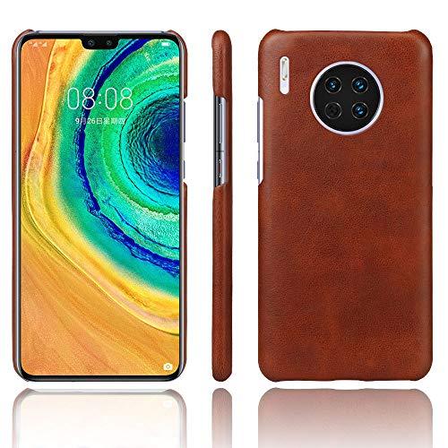 Funda para Huawei Mate 30 Pro Funda Patrón de Caballo Loco Elegante Suave PU Cuero Caso Protectora Case para Huawei Mate 30 Pro (Marrón)