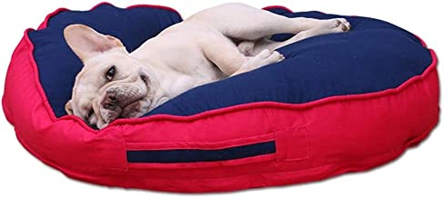 ZRL77y Pet Dog Lounge Sofa Small Dogs Cats Round Nest Bed Soft Cushion Couch Sleeping Mat Pad Pet Dog Sofa Bed (Color : Bl...