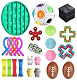 TOSOTO Sensory Fidget Toys Set, 24 Pcs., Stress Relief and Anti-Anxiety Tools Bundle Sensory Toys Set Sensory Therapy Toys for ADHD Autism Stress Anxiety