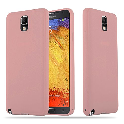 Cadorabo Hülle für Samsung Galaxy Note 3 - Hülle in Candy ROSA – Handyhülle aus TPU Silikon im Candy Design - Silikonhülle Schutzhülle Ultra Slim Soft Back Cover Hülle Bumper