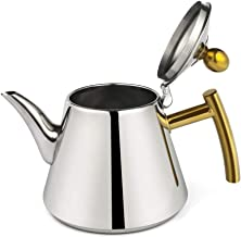 GenericBrands Czajnik spożywczy stal nierdzewna 304 płaska taca do herbaty czajniczek zestaw do herbaty kuchenka indukcyj...