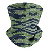 XZWEI Tiger Stripe Camouflage Unisex Bandana Neck Gaiter Motorcycle Face Cover Face Scarf Windproof Helmet Liner