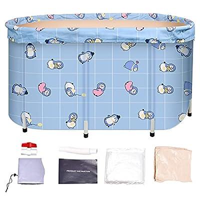 Portable bathtub Folding BathtubThicken Soaking Bath Tub ,Keep Temperature,Free-Standing, for Adults