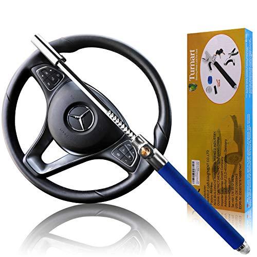 Turnart Lenkradkralle, Premium Auto Anti-Diebstahl, für Lenkräder Verschiedener Größen, Mit 3 Schlüsseln (Blau)