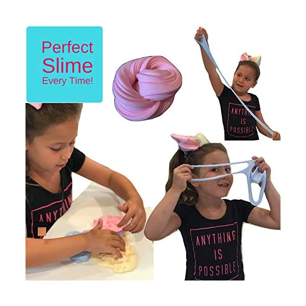 Unicorn Slime Kit Supplies for Girls- DIY Stuff and Activator for Fluffy Cloud Floam Butter Slime 5