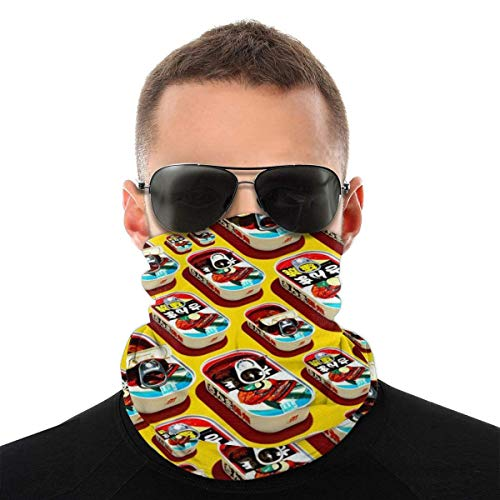 N / A Tube Scarf,Tough Headwear,Japanese Canned Food Pattern Outdoor Sports Neck Warmer Headband Bandana Balaclava