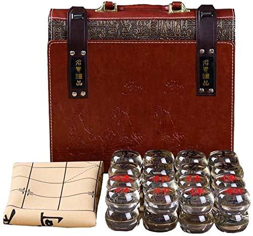Ajedrez para tablero harry potter viaje Conjunto de juegos de ajedrez chino / xiangqi clásico con tablero de juego de ajedrez magnético con piezas artesanales de madera conjuntivo LPRE ( Color : B )