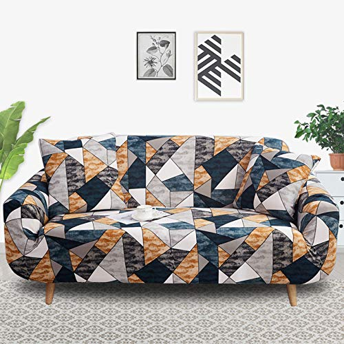 PPOS Funda de sofá elástica elástica con Estampado Floral, Toalla de sofá de algodón, Fundas de sofá Antideslizantes para Sala de Estar A4, 1 Asiento 90-140cm-1pc