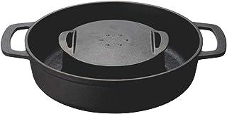 ドウシシャ すき焼き鍋 28cm ガス火専用 レシピ付き ブラック 焼きすき鍋 LivE