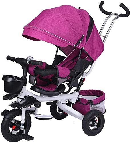TOKUJN Trolley de Triciclo para niños, Chicos y niñas Pedal de Tres...