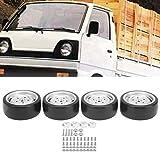 Clasken Ruedas RC, 63 mm Neumático RC Ruedas de vehículos RC Ruedas eléctricas con neumáticos de Goma Neumático de Goma para WPL RC Accesorio RC Ruedas de Coche para WPL D12 RC Truck