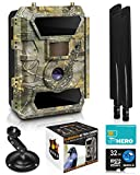 LTE 4G Cellular Trail Cameras – Outdoor WiFi Full HD Wild Game Camera with Night Vision for Deer...