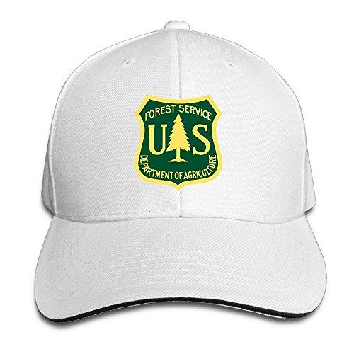 SOTTK Hombre Mujer Gorras de béisbol, US Forest Service Flag Adjustable Baseball Caps Vintage Sandwich Hat