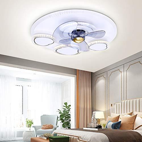 MINGRT Ventilador de techo LED con iluminación, 90W luz de ventilador con Mando a Distancia, Velocidad del Viento Ajustable, Lámpara de Techo Moderna para Habitación Dormitorio