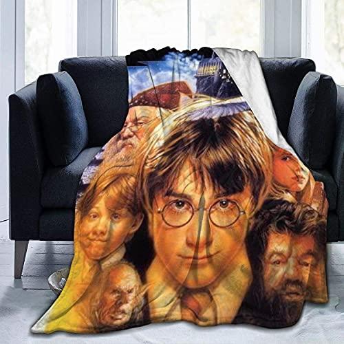Ha-rry Pot-TER Weiche flauschige leichte warme Decke für Bett Couch Stuhl Herbst Winter Frühling Wohnzimmer mehrere Größen 203,2 x 152,4 cm