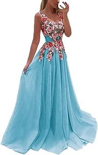 Women Lace Applique Patchwork Elegant Bridesmaid Dresses Sleeveless Swing Wedding Chiffon Dress