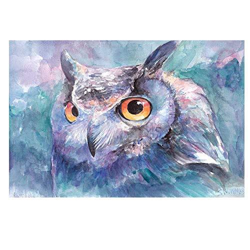 YSNMM Uilen Dell'aquarel schilderij op canvas, canvas, woonkamer, slaapkamer, moderne prints op canvas, dieren, decoratie voor thuis