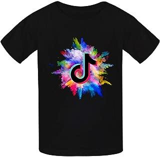 EicopsnUOi Tok-TIK Boys and Girls Fashion Cotton Round Neck T-Shirt