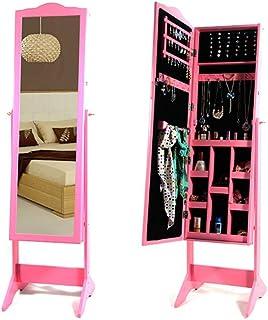 Fanuosu Armoires à Bijoux Armoire à Bijoux en Miroir Armoire à Bijoux Permanent avec écran Tactile Organisateur de Stockag...