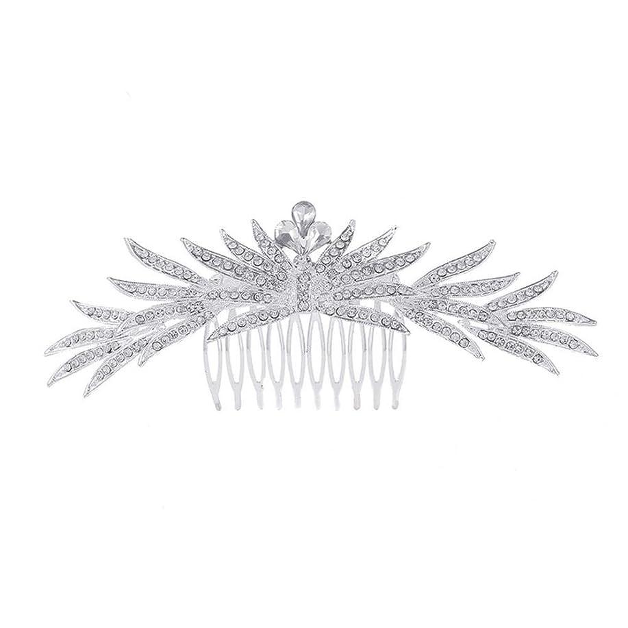 解凍する、雪解け、霜解け素晴らしいです過ち髪の櫛の櫛の櫛花嫁の髪の櫛ラインストーンの櫛亜鉛合金ブライダルヘッドドレス結婚式のアクセサリー挿入櫛