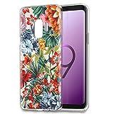 Funda Samsung Galaxy J7 Duo 2018, Eouine Cárcasa Silicona 3D Transparente con Dibujos Diseño Suave Gel TPU [Antigolpes] de Protector Fundas para Movil Samsung J7Duo - 5,5 Pulgadas (Flor Colorida)