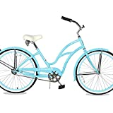 TRACER TAHA 26'' Cruiser Beach Bike for Women/Youth/Adult, 26-inch Wheels, Hi-Ten Steel Frame, Soft Tower Cruiser Seat Hybrid Bicycle, Multiple Colors… (26' - Baby Blue)