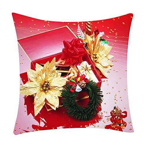 Mamum - Couverture de Coussin de Voiture de Sofa de Polyester de taie d'oreiller Floral d'impression décor à la Maison (F)