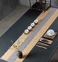 """テーブルランナー 和風素朴な竹ランチョンマット、 綿とリネン生地のロール可能な折りたたみ式ランチョンマット、 無毒で滑りにくい耐熱耐久性のあるテーブルマット (Color : Gray, Size : 30cmx50cm(11.8""""x19.7""""))"""