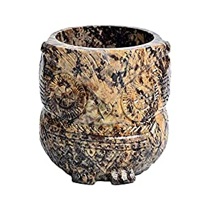 Soapstone Smudge Bowl for Scrying/Smudging - 3.75 x 4 Inches - Incense Burner, Wiccan Rituals, Divination