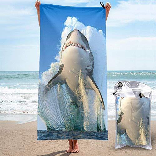 Bathroom Towels Shower Towels Toallas de playa ligeras, tiburón 3D Beach Towels 140 X 70