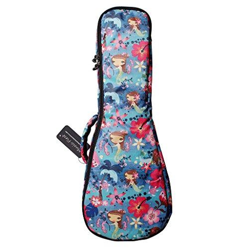 "MUSIC FIRST® Ocean Blue ""Little Mermaid"", funda para ukelele, funda para ukelele, diseño original, el mejor regalo, soprano, azul océano"