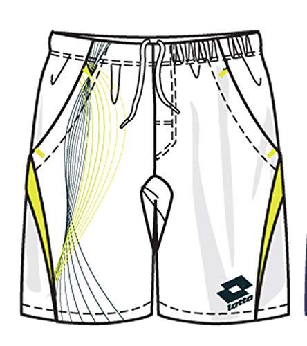 Lotto Pantalon Fluide, Homme, Blanc/Vert Jaune M Weiß
