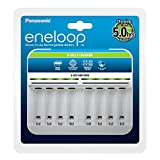 Panasonic eneloop Intelligent Premium Charger for 1-8 NI-MH Batteries AA/AAA,White
