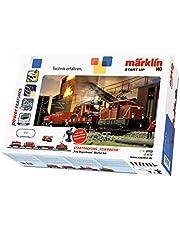 Märklin start up 29722 Start Up - Kit de iniciación para camión de Bomberos, Carril H0, Juego de iniciación con Tren y pasillos, con Coche de Bomberos, función de luz, a Partir de 6 años