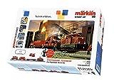 Märklin start up 29722 Start Up Startpackung Feuerwehr, Spur H0 Modelleisenbahn, Startset mit Zug und Gleisen, mit Feuerwehrauto, Lichtfunktion, ab 6 Jahre