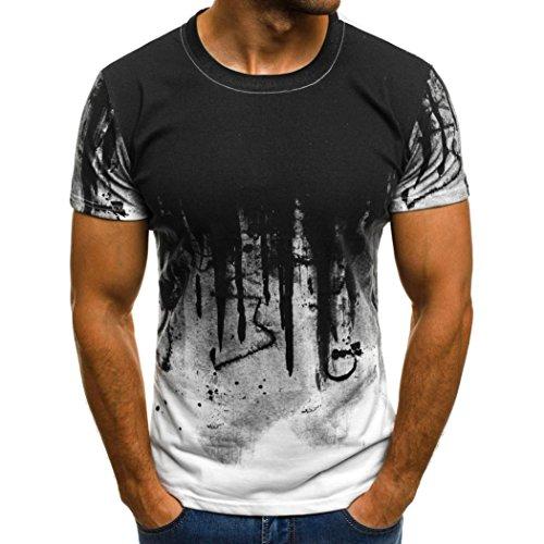 Tshirt Stretch Maglione Cotone Uomo Tumblr Estiva Particolari Magliette Corte Camicia Uomo Elegante Maglietta Manica Corta Homebaby/® T-Shirt Uomo Vintage Slim Fit