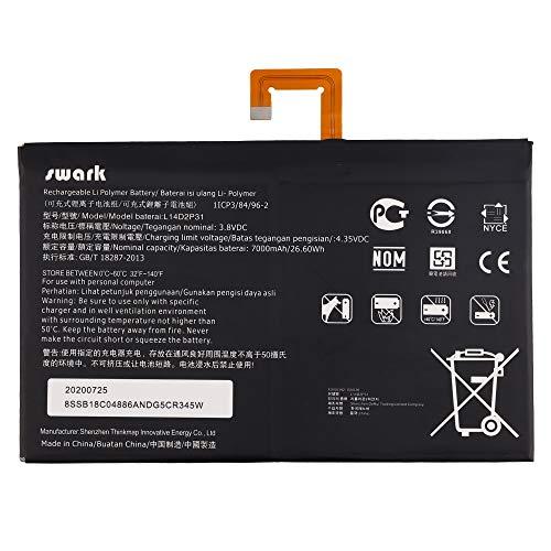 Swark L14D2P31 Akku Kompatibel mit Lenovo TAB 2 A10-30 TB2-X30F TB2-X30L TB2-X30M A10-70 A10-70F A10-70L Series