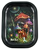 Black Leaf Rolling Tray Mushroom 180x140x16mm, Bröselschale, Mischeschale