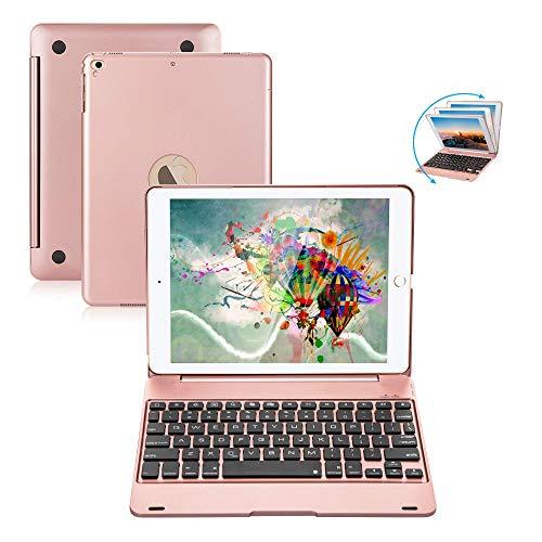 iPad Keyboard 9.7 per iPad 2018 (6° generazione) iPad 2017 (5° generazione) iPad Pro 9.7 iPad Air 2 e 1 tastiera wireless auto Sleep/Wake iPad Case con tastiera (oro rosa)
