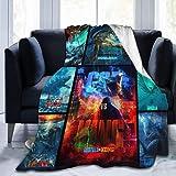 WFQTT Godzilla contra King Kong, manta de microforro polar ultrasuave, manta cálida de franela, cama de sofá de felpa para cama/sofá/silla (1,60 x 50 pulgadas)