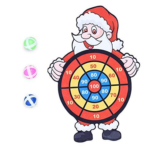 Eariy - Juego de dardos para fiestas de Navidad (3 bolas adhesivas)