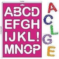 Karty 文字ステンシル Lサイズ アルファベット/数字/記号 再利用可能なプラスチックキット