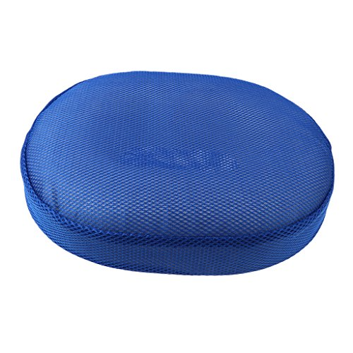 F Fityle Donut Cushion Orthopedic Pillow with Removable Cover, Large, for Hemorrhoid, Coccyx, Pregnancy and Tailbone Pain - Blue