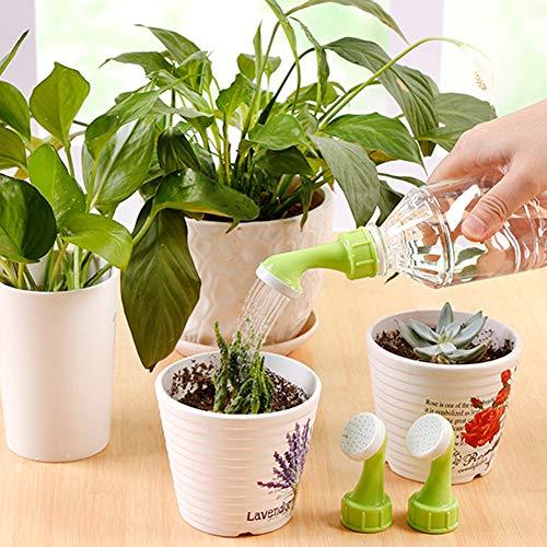 Athemeet 2 Piezas Rociadores de Botella,Boquilla Bonsai Verde Rociador,Regadera de plástico pequeña Bonsái Regadera para Planta Riego de Interior de Jardín