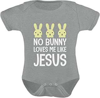 Tstars - No Bunny Loves Me Like Jesus Christian Easter Baby Bodysuit