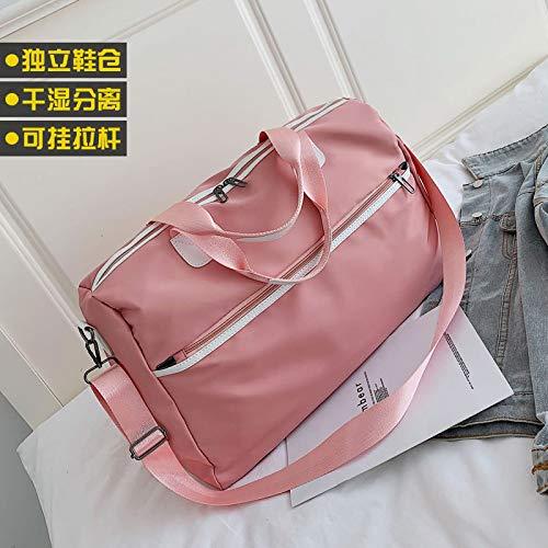 BASA, borsa sportiva da yoga, borsa da viaggio, per scarpe, borsa da viaggio, borsa da viaggio a tracolla, borsa da nuoto, rosa, Large 26 liters