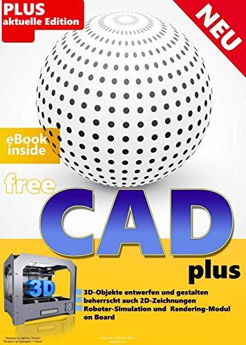 FreeCAD plus Die professionelle 2D + 3D Software auf CD DVD Konstruktion Architektur, Maschinenbau, Elektrotechnik CAD Programm, Software für Windows