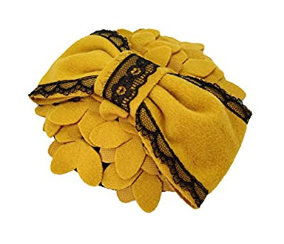 Ahugehome Fascinator Hair Clip Headband Pillbox Hat Bow Flower Wool Vintage Party