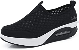 Donne Scarpe da Ginnastica Sportivo Mesh Respirabile Lacci Sneakers da Corsa Donna Scarpe da Running Sportive Corsa Sneake...